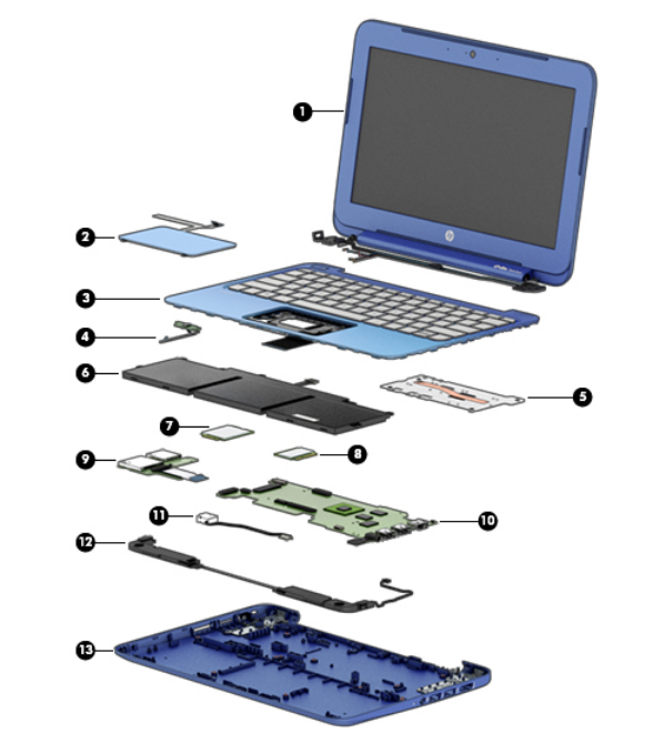 exploded laptop diagram